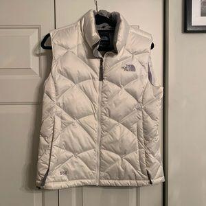 The North Face White Puff Vest